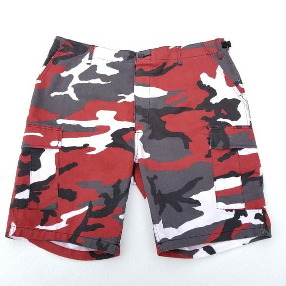 Rothco Other - Rothco BDU Red Camo Military Style Cargo Shorts